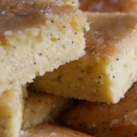 VeganFabulous Greek Tapas Night At La Raza - Lemon and Orange Cake with Poppy Seeds and Icing
